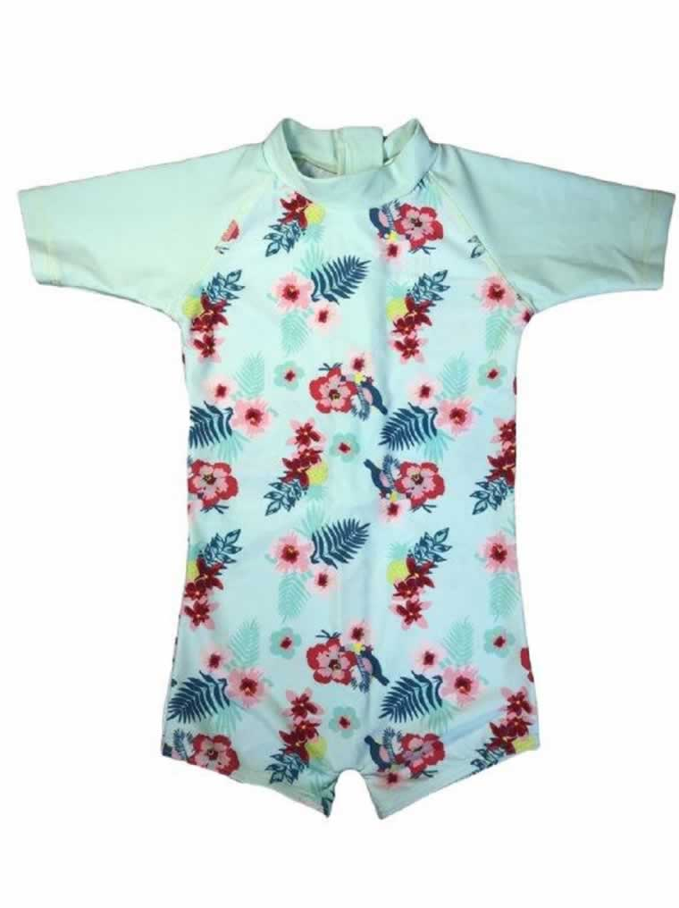 banz swimwear Mint Floral Swimsuit