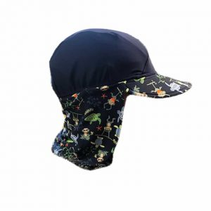 banz swimwear Navy Jungle Flap Hat