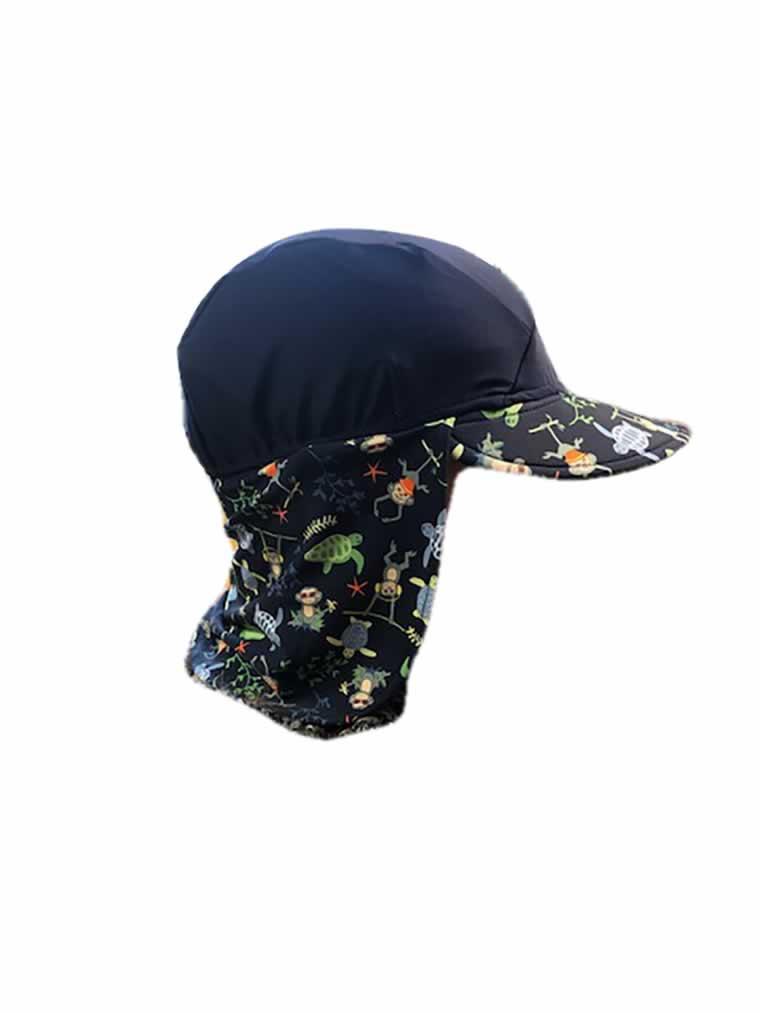 banz swimwear Navy Jungle Flap Hat