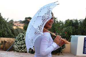 lace parasols and fans from sunsibility